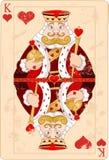 Rei dos corações ilustração royalty free