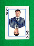 Rei dos dólares que joga o cartão Foto de Stock