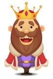 Rei dos desenhos animados Foto de Stock