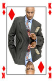 Rei dos diamantes Fotos de Stock Royalty Free