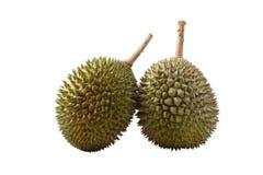 Rei dos frutos, durian no fundo branco Fotos de Stock