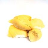 Rei dos frutos, durian no fundo branco Foto de Stock