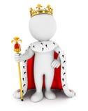 rei dos povos 3d brancos Fotos de Stock