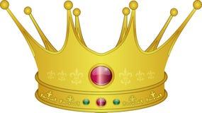 Rei dourado bonito Illustration da coroa Imagem de Stock Royalty Free