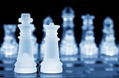 Rei e rainha da xadrez Fotos de Stock