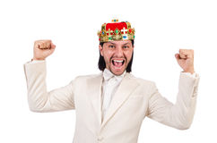 Rei engraçado Foto de Stock Royalty Free