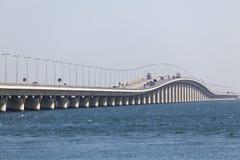 Rei Fahd Causeway em Barém fotos de stock royalty free