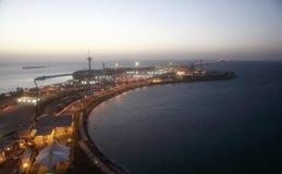 Rei Fahd Causeway sobre o golfo de Barém fotografia de stock