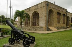 Rei George do forte, Scarborough, Tobago Fotos de Stock