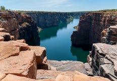 Rei George River Gorge da parte superior do rei George Falls, costa de Kimberley, Austrália fotos de stock royalty free