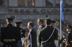 Rei holandês Willem-Alexander com o presidente de Argentine Republic Fotografia de Stock Royalty Free