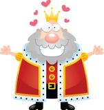 Rei Hug dos desenhos animados ilustração royalty free