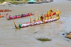 Rei longo tradicional Cup dos barcos de Tailândia da competição Imagem de Stock