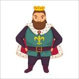 Rei Monarca engraçado ilustração royalty free
