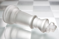 Rei na placa de xadrez Fotografia de Stock Royalty Free
