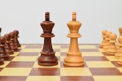 Rei no centro do tabuleiro de xadrez Imagem de Stock Royalty Free