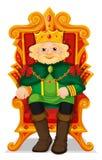 Rei que senta-se no trono Imagens de Stock