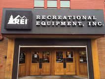 REI Storefront Eugene, OR Stock Images
