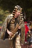Rei Tut Com Saxofone Imagem de Stock Royalty Free