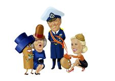 Rei Willem alexander ilustração royalty free