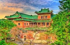 Rei Yin Lei Palace no distrito dos Meados de-níveis de Hong Kong imagem de stock royalty free