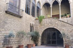Reial Acadèmia de Bones Lletres, Παλάου Requesens, Βαρκελώνη Στοκ Φωτογραφίες