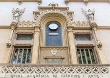 Reial Acadèmia de Ciències i Arts de Barcelona Stock Photo