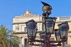 Reial square in Barcelona, Spain Stock Photo