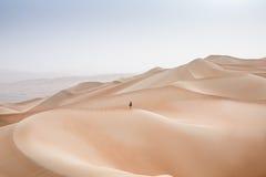 Reiben Sie Al Khali Desert am leeren Viertel, in Abu Dhabi, UAE Lizenzfreies Stockfoto