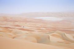 Reiben Sie Al Khali Desert am leeren Viertel, in Abu Dhabi, UAE Lizenzfreie Stockbilder