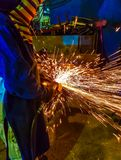 Reibendes Metall der Arbeitskraft Lizenzfreies Stockbild