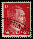 REICH ALEMÁN Circa 1939 - c 1944: Un sello con retratar de Adolf Hitler Foto de archivo libre de regalías