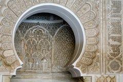 Reich verziertes marokkanisches Gebäude Lizenzfreies Stockbild