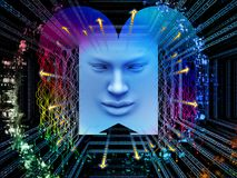 Reiche des Supermenschen AI Lizenzfreies Stockfoto