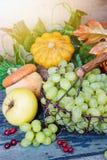 Reiche Ernte von verschiedenen Obst und Gemüse von Stockfotografie