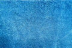 Reiche kopierten blaues Leder lizenzfreie stockbilder