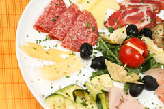 Reiche und köstliche Frühstücksmahlzeit Lizenzfreie Stockbilder