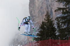 REICHELT Hannes (AUT). VAL GARDENA, ITALY - DECEMBER 21:  REICHELT Hannes (AUT) races down the Saslong competing in the Audi FIS Alpine Skiing World Cup MEN'S Royalty Free Stock Image