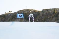 REICHELT Hannes in FIS Alpien Ski World Cup - super-g van 3de MENSEN Stock Foto's