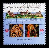 Reichenau世界遗产名录2000年,联合国科教文组织世界遗产名录修道院海岛选址serie,大约2008年 库存照片
