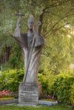Reichenau,博登湖的海岛圣徒雕象在德国 库存图片