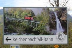 Reichenbach跌倒达成协议先生日的地方福尔摩斯征服1891年5月4詹姆斯・莫里亚蒂教授的阿瑟・柯南・道尔 库存图片