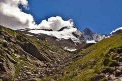 Reichenbachspitze冰川 免版税图库摄影