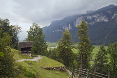 Reichenbachtal valley, Switzerland Royalty Free Stock Images