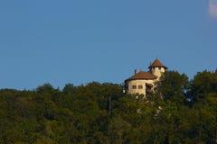 Reichenstein城堡在村庄Arlesheim 库存照片