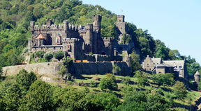 Reichenstein Castel on the Rhine Royalty Free Stock Photos
