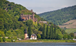 Reichenstein castle in famous rhine valley Royalty Free Stock Photography