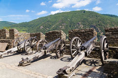 Free Reichenstein Castle, Germany - Ancient Weapons On Roof Royalty Free Stock Image - 77560466