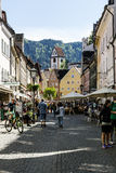 Reichenstrasse在Fuessen 免版税图库摄影