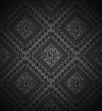 Reicher schwarzer Paisley-Hintergrund Stockbild